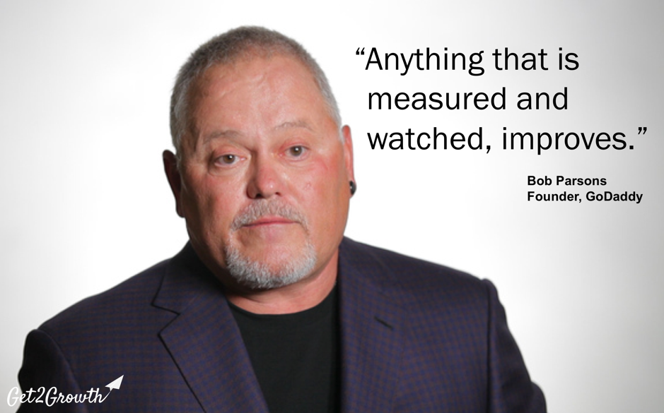 "Bob Parsons GoDaddy ""Anything that is measured and watched, improves."""