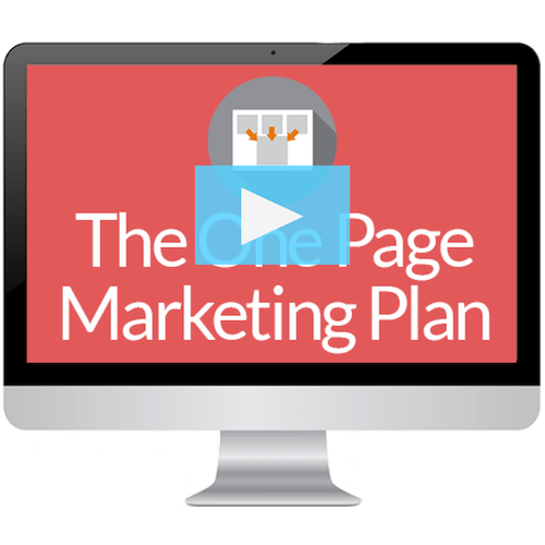 One Page Marketing Plan Video Series