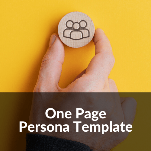 One Page Persona Template